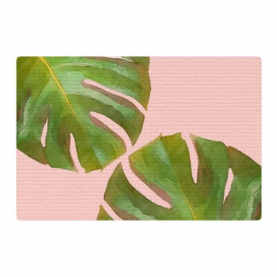Oriana Cordero Tropico V3 Pink/Green Area Rug Rug Size: 2 x 3