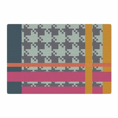 Pellerina Design Houndstooth Color Block Contemporary Area Rug Rug Size: 4 x 6