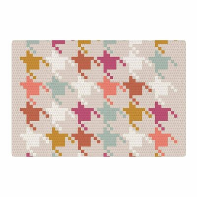 Pellerina Design Houndstooth Panel Digital Gold Area Rug Rug Size: 2 x 3
