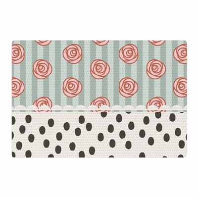 Pellerina Design Mismatch Romantic Polkadot Floral Cream/Pink Area Rug Rug Size: 4 x 6