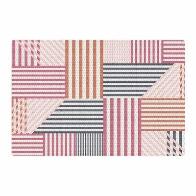 Pellerina Design Mod Linework Magenta Geometric Pink/Brown Area Rug Rug Size: 4 x 6