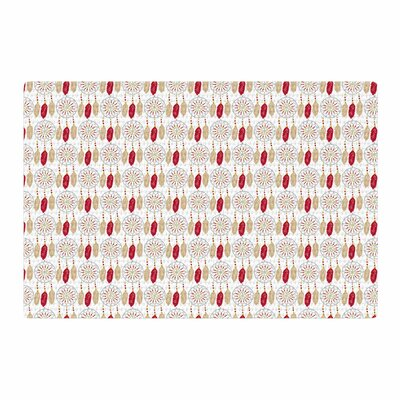 Petit Griffin Dreams Red/Gold Area Rug Rug Size: 2 x 3