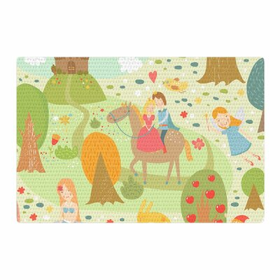 Petit Griffin Fairy Tale Fantasy Illustration Green/Brown Area Rug Rug Size: 2' x 3'