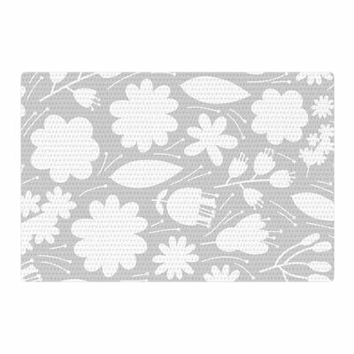 Petit Griffin Leaf Digital Gray Area Rug Rug Size: 4 x 6