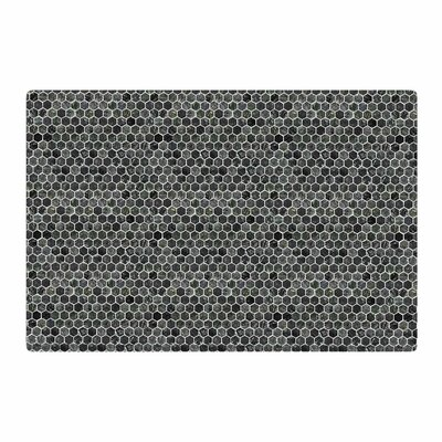 Petit Griffin Marble Abstract Gray Area Rug Rug Size: 2 x 3
