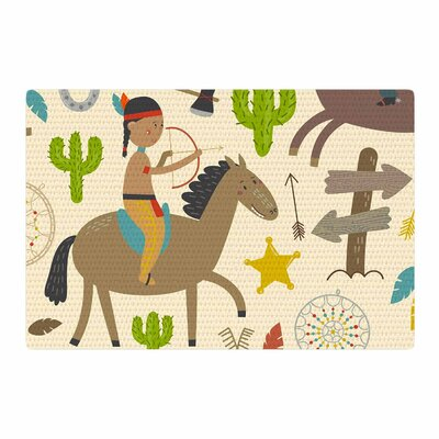 Petit Griffin Tipi Kids Brown Area Rug Rug Size: 2 x 3