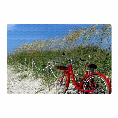 Philip Brown A Day at the Beach Black/Red Area Rug Rug Size: 4 x 6