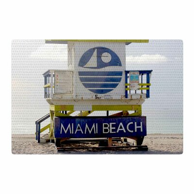 Philip Brown Miami Beach Lifeguard Blue Area Rug Rug Size: 4 x 6