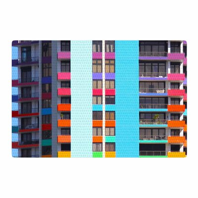 Philip Brown the Rainbow Building Modern Area Rug Rug Size: 4 x 6