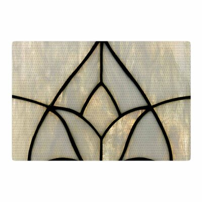 Philip Brown Tulip Stained Glass Floral Digital Gray Area Rug Rug Size: 4 x 6