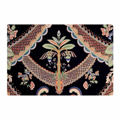 Philip Brown Vintage Paisley Pattern Art Deco Black Area Rug Rug Size: 4 x 6