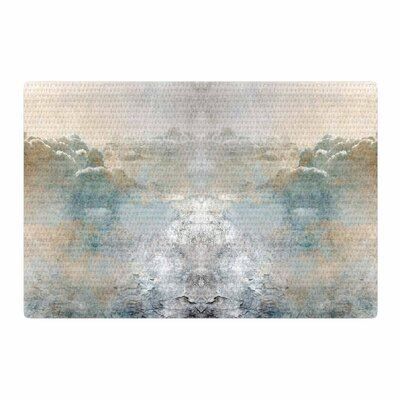 Pia Heaven II Mixed Mediia Abstract Gray Area Rug Rug Size: 4 x 6