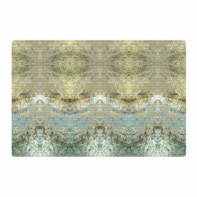 Pia Schenider Heavenly Abstractation Gold/Green Area Rug Rug Size: 4 x 6