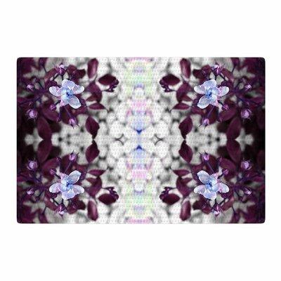 Pia Schenider Roses ll Purple/White Area Rug Rug Size: 4 x 6