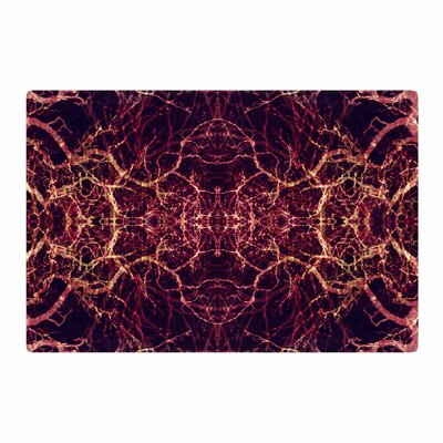 Pia Schneider Burning Roots I+VIII Abstract Maroon Area Rug Rug Size: 4 x 6