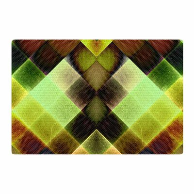 Pia Schneider Colorful Squares Green/Yellow Area Rug Rug Size: 4 x 6