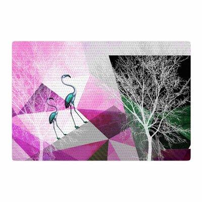 Pia Schneider Flamingo P22 Geometric Pink Area Rug Rug Size: 4 x 6