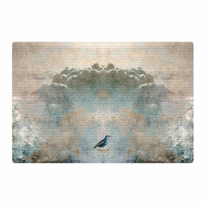 Pia Schneider Heavenly Bird Animals Blue Area Rug Rug Size: 2 x 3