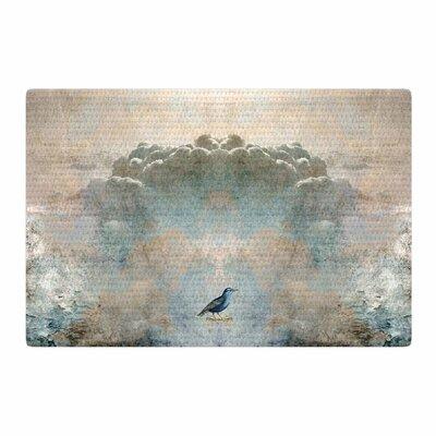 Pia Schneider Heavenly Bird Animals Blue Area Rug Rug Size: 4 x 6