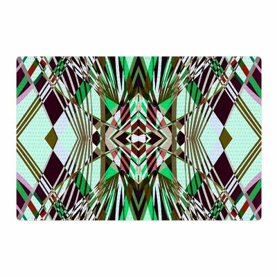 Pia Schneider Sweeping Line Pattern I-E4B Diamond Green Area Rug Rug Size: 4 x 6