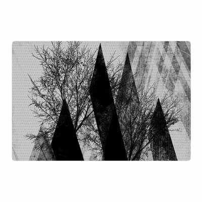 Pia Schneider Trees V.2 Black/White/Gray Area Rug Rug Size: 4 x 6