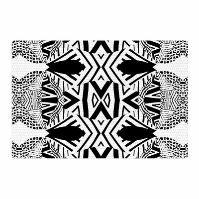 Pom Graphic Design Africa Black/White Area Rug Rug Size: 2' x 3'