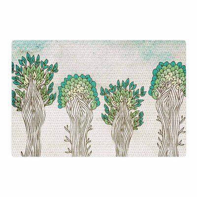 Pom Graphic Design Amazon Trees White/Nature Area Rug Rug Size: 2' x 3'