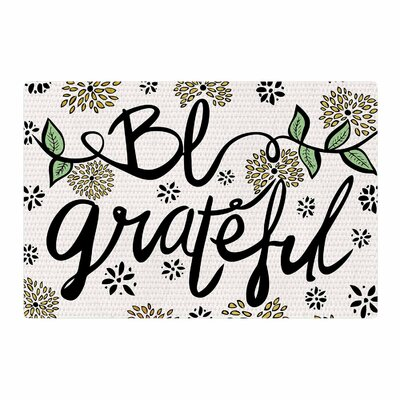 Pom Graphic Design Be Grateful Typography Nature Area Rug Rug Size: 2 x 3