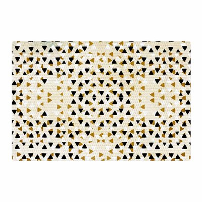 Pom Graphic Design Diamond Sky Beige/Black Area Rug Rug Size: 4' x 6'