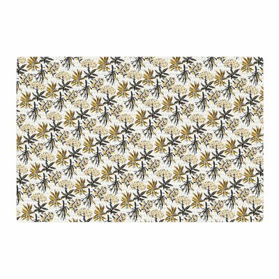 Pom Graphic Design Apothecary Gold/Black Area Rug Rug Size: 4 x 6