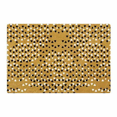 Pom Graphic Design Sky Gold/Black Area Rug Rug Size: 2 x 3