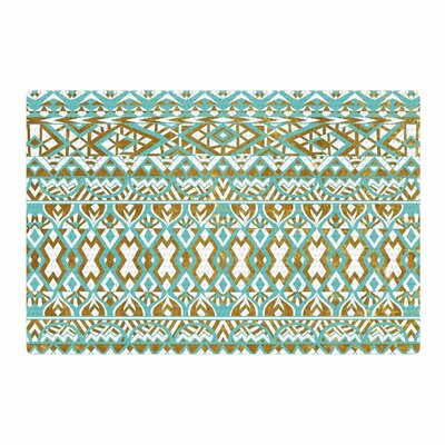 Pom Graphic Design Tribals Teal/Brown/Mint/Gold Area Rug Rug Size: 4' x 6'