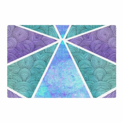 Pom Graphic Design Reflective Pyramids Teal/Purple Area Rug Rug Size: 2' x 3'