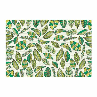 Pom Graphic Design Tropical Botanicals Nature Green Area Rug Rug Size: 4 x 6