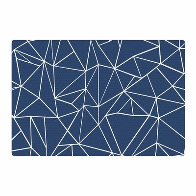 Project M Abstraction Outline Abstract Blue Area Rug Rug Size: 4 x 6