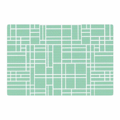 Project M Map Outline Geometric Lines Mint Area Rug Rug Size: 4 x 6