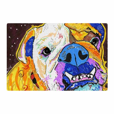 Rebecca Fisher Tucker Bulldog Yellow Area Rug Rug Size: 2 x 3