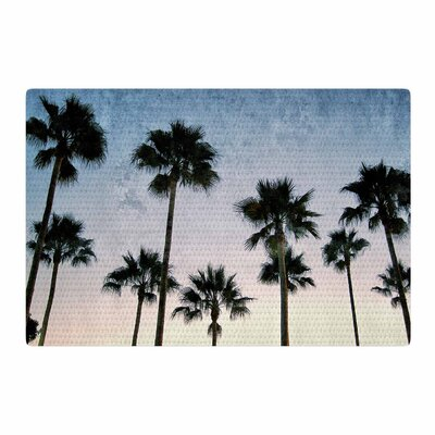 Richard Casillas Paradise Palms Blue/Pink Area Rug Rug Size: 2 x 3