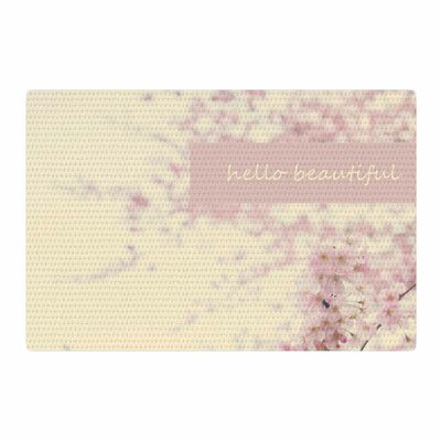 Robin Dickinson Hello Beautiful Typography Pink Area Rug Rug Size: 2 x 3