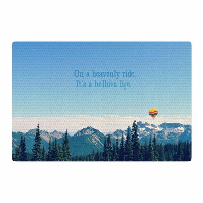 Robin Dickinson Its a Helluva Life Mountain Blue Area Rug Rug Size: 2 x 3