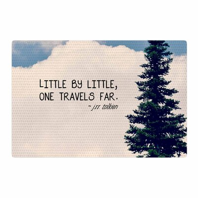 Robin Dickinson Little By Little Clouds Typography Cream Area Rug Rug Size: 2 x 3