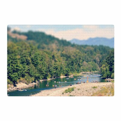 Robin Dickinson Summertime Float River Green Area Rug Rug Size: 2 x 3