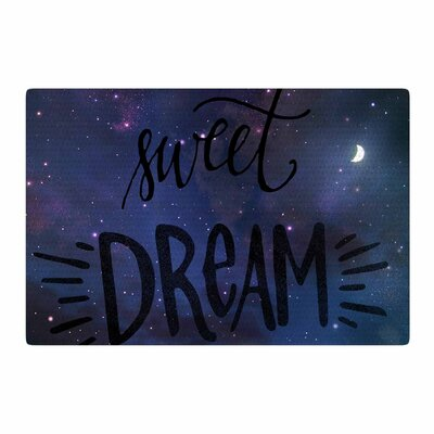 Robin Dickinson Sweet Dream Galaxy Black/Purple Area Rug Rug Size: 2 x 3