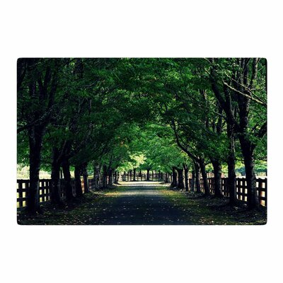 Robin Dickinson Welcome Home Trees Green Area Rug Rug Size: 2 x 3