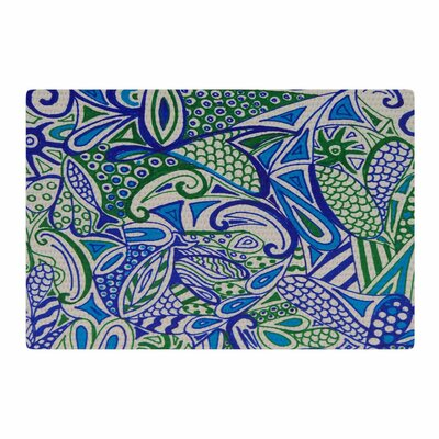 Rosie Brown Zentangle Blue/Green Area Rug Rug Size: 4' x 6'