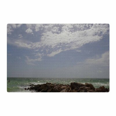 Rosie Brown Clouds Coastal Photography Blue/Green Area Rug Rug Size: 2 x 3