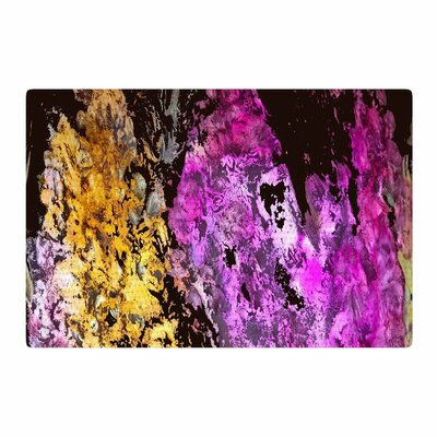 Rosie Brown Garden Glows Gold/Purple Area Rug Rug Size: 2' x 3'
