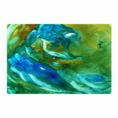Rosie Brown Hurricane Green/Blue Area Rug Rug Size: 4 x 6
