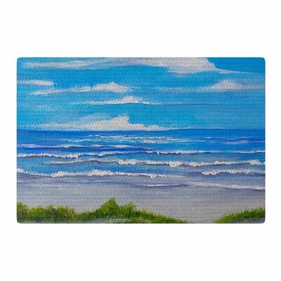Rosie Brown Sanibel Island Coastal Painting Blue Area Rug Rug Size: 2 x 3