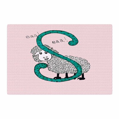 Rosie Brown Sis for Sheep Pink/Teal Area Rug Rug Size: 4 x 6